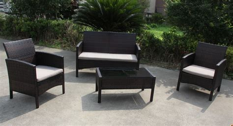 cheap kd poly pe rattan outdoor furniture patio sofa set