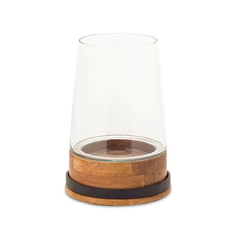 Wood And Glass Candle Holders by Black Glass Candle Holder Bellacor