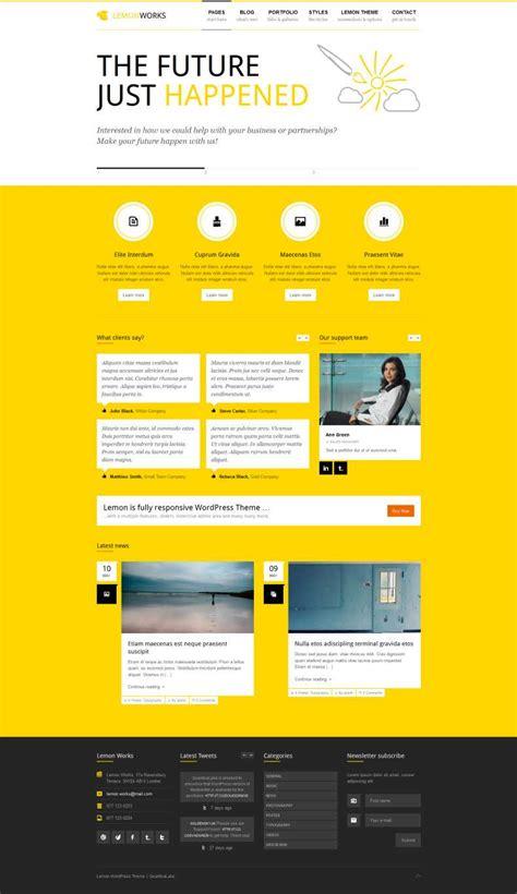 wordpress yellow color themes