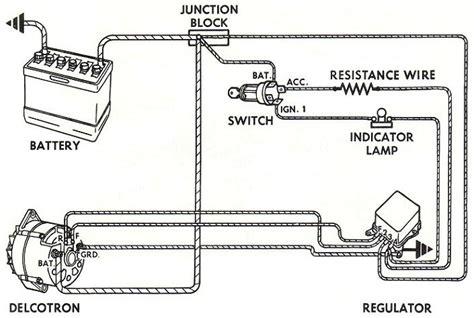 wire  gm external regulated dn alternator