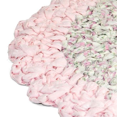 shabby chic rag rug shabby chic rag rug floral rose fabric scalloped pale pink edge l