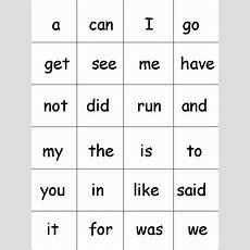 Printable Sight Words  Homeschooling  Preschool Sight Words, Kindergarten Sight Words List