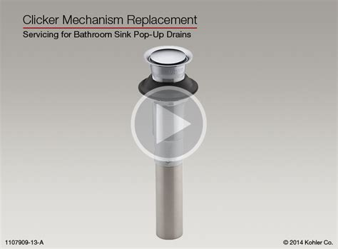 Replacement Bathroom Sink by Clicker Mechanism Replacement For