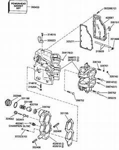 Evinrude Cylinder  U0026 Crankcase Parts For 1989 40hp