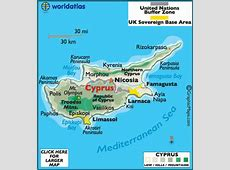 Cyprus Map Geography of Cyprus Map of Cyprus