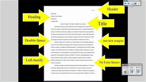 how to format research paper mla tutorial 1 basic paper formatting youtube