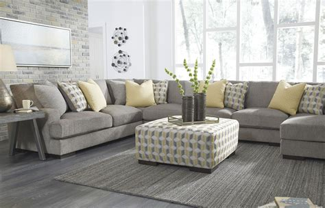 Fallsworth Smoke Raf Large Sectional From Ashley Traditional Kitchen Faucets Cottage Lighting Contemporary Wall Tiles Urban Barn Kitchener White Yellow Walls Design Hummus Mediterranean San Mateo