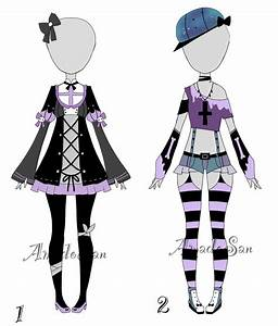 Pastel goth outfit adoptable batch CLOSED by AS-Adoptables on DeviantArt