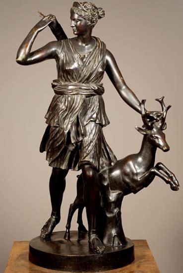 diana bronze a bronze sculpture of diana the huntress after the