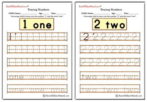 tracing numbers worksheets aussie childcare network
