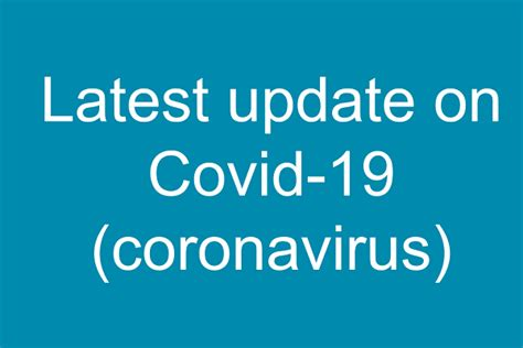 Latest update on coronavirus (Covid-19) | Department of Health
