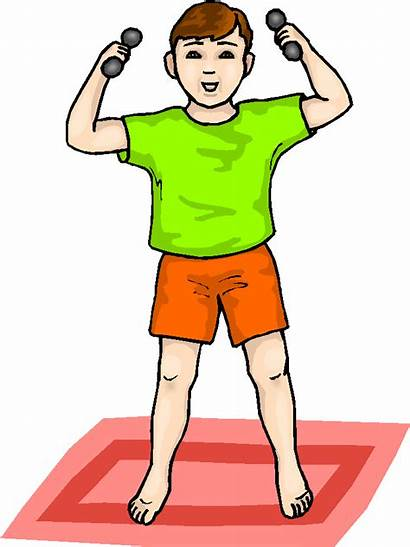 Lifting Weights Clipart Boy Clip Microsoft