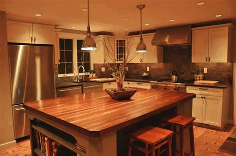Blue Countertop Kitchen Ideas by Custom Mahogany Wood Kitchen Countertop In Blue Bell Pa