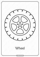 Printable Wheel Coloring Pdf Cars Truck Wheels Tires Rims Worksheet Hard Printables Templates Block Race Bearing sketch template