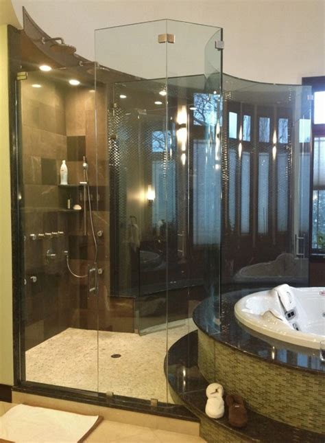 custom shower doors modern bathroom chicago