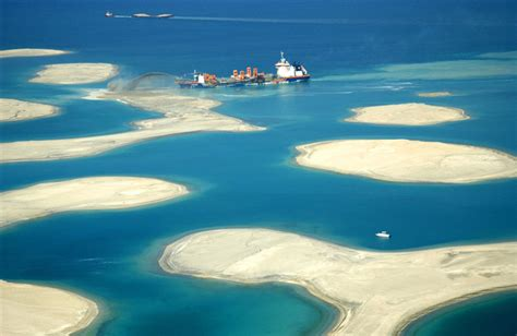 sinking islands in the pacific dubai s world of islands is sinking into the sea the world