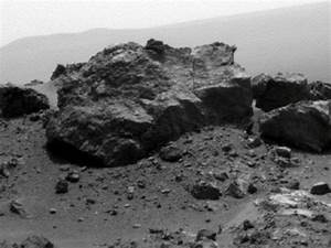 NASA - 'Ridout' Rock on Rim of Odyssey Crater