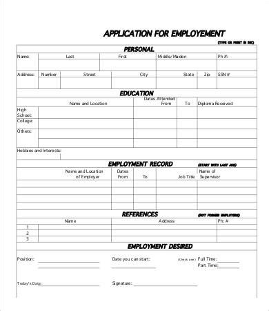 Printable Job Application Template  10+ Free Word, Pdf. Music Album Cover Creator. Business Card Template Powerpoint. University Of Iowa Graduate Programs. Sunday Prayer Images. Property Management Checklist Template. Volunteer Sign In Sheet Template. Black And White Design. Funny Wanted Posters