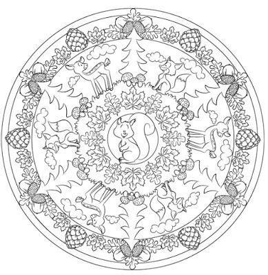 waldmandala vorlage zum ausmalen ideenreise kindergarten mandala  bullet