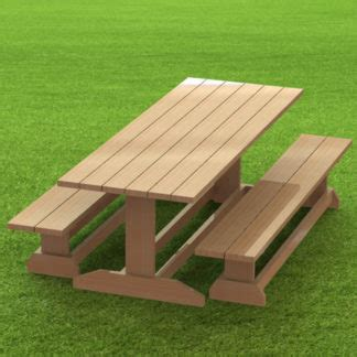trestle style picnic table building plans  easy  build