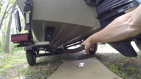 Boat Trailer Guide Protectors by How To Install A Transom Saver On Your Boat Trailer And