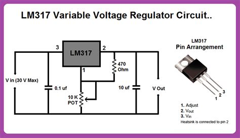 electrical and electronics engineering eee lm317 variable voltage regulator circuit