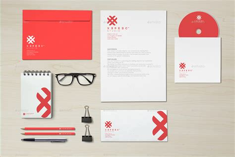 Design Brand by Realistic Branding Identity Design Mockups V4 By Xepeec