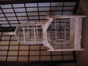 Antique bird cages: for sale, with stand
