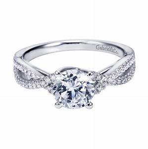 gabriel co 14k white gold criss cross halo cathedral With criss cross wedding ring