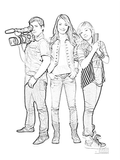 Victoria Justice Victorious - Free Coloring Pages