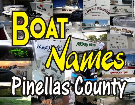 Pinellas County Florida Boat Registration boat name ideas boat name design install ta