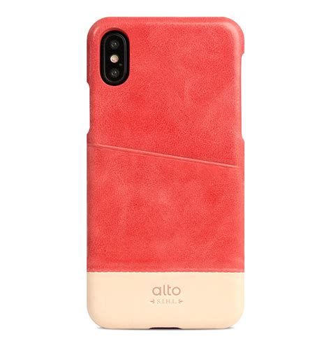 metro iphone iphone x metro leather coral original alto