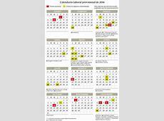 El calendario laboral de 2018 tendr 12 festivos con un