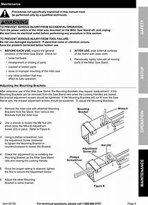 Manual For The 62750 Heavy Duty Mobile Miter Saw Stand