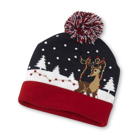 light up hats editions s light up beanie hat reindeer