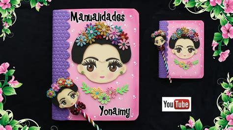 libreta  lapiz decorado de frida kahlo youtube