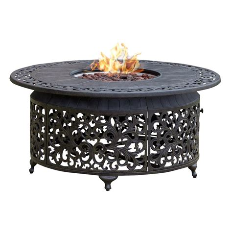 patio propane fire pit table paramount fp 251 round outdoor propane fire pit table