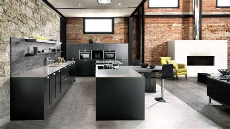 les cuisines schmidt du noir mat un plan de travail minéral le style