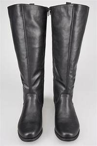 Shoe Width Codes Chart Black Xl Calf High Leg Boots With Stretch Panels Sizes