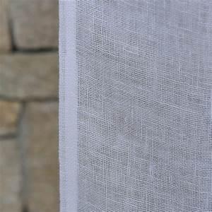 Rideau En Lin Blanc : rideau gaze de lin blanc maison d 39 t ~ Melissatoandfro.com Idées de Décoration