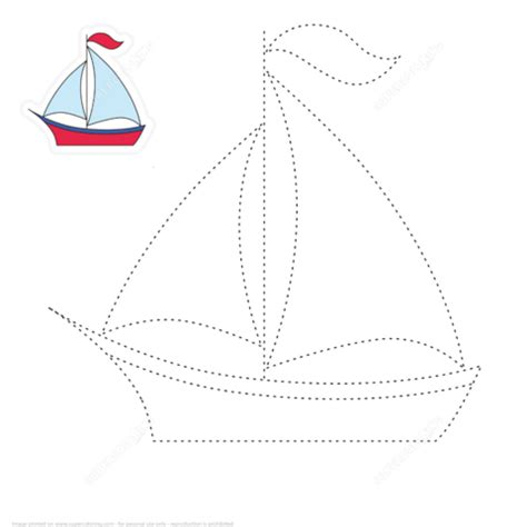 Boat Lines by Draw A Boat By Tracing Lines Free Printable Puzzle