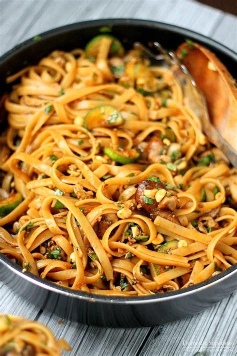 thai noodles recipe one pot spicy thai noodles domestic superhero