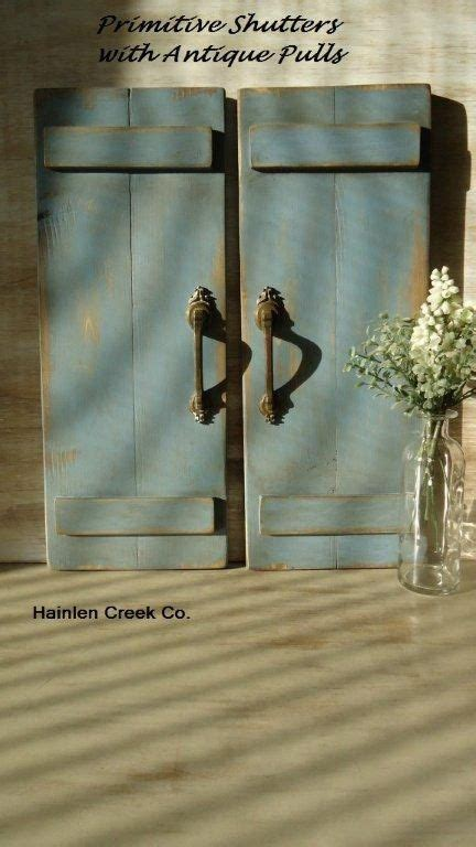 Rustic Country Primitive Decor Handemade Wooden Shutters