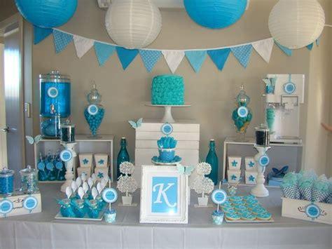 baby shower garcon une deco tout en bleu baby shower