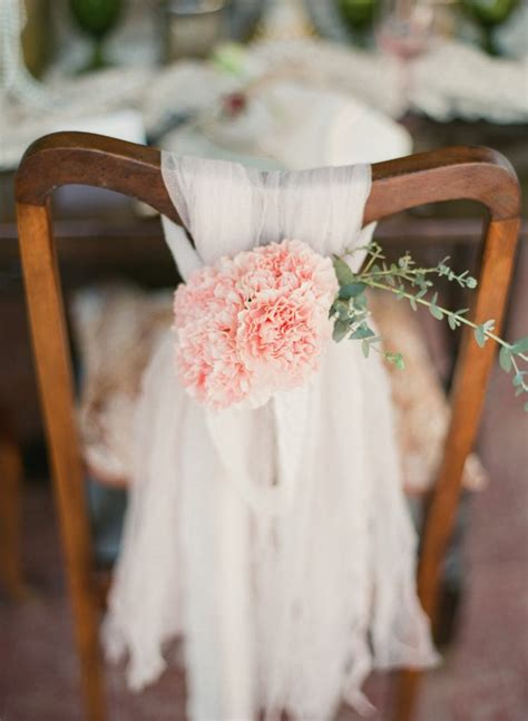 chaise mariage wedding chair decorations with carnations eucalyptus and