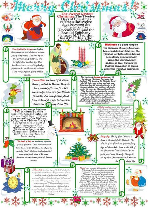 merry christmas worksheet  esl printable worksheets