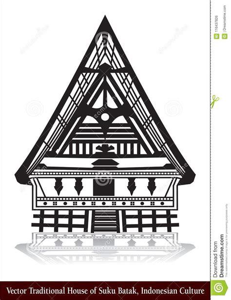 rumah adat batak vector traditional house  suku batak