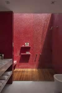 mosaic bathroom ideas baño minimalista rojo dikidu