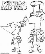 Ferb Phineas Coloring Pages Print sketch template