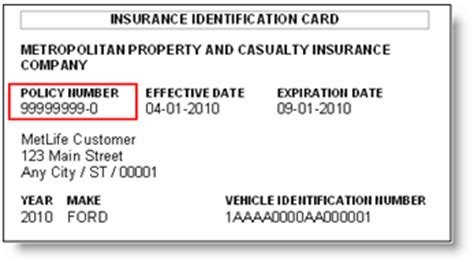metlife auto insurance phone number policy number help